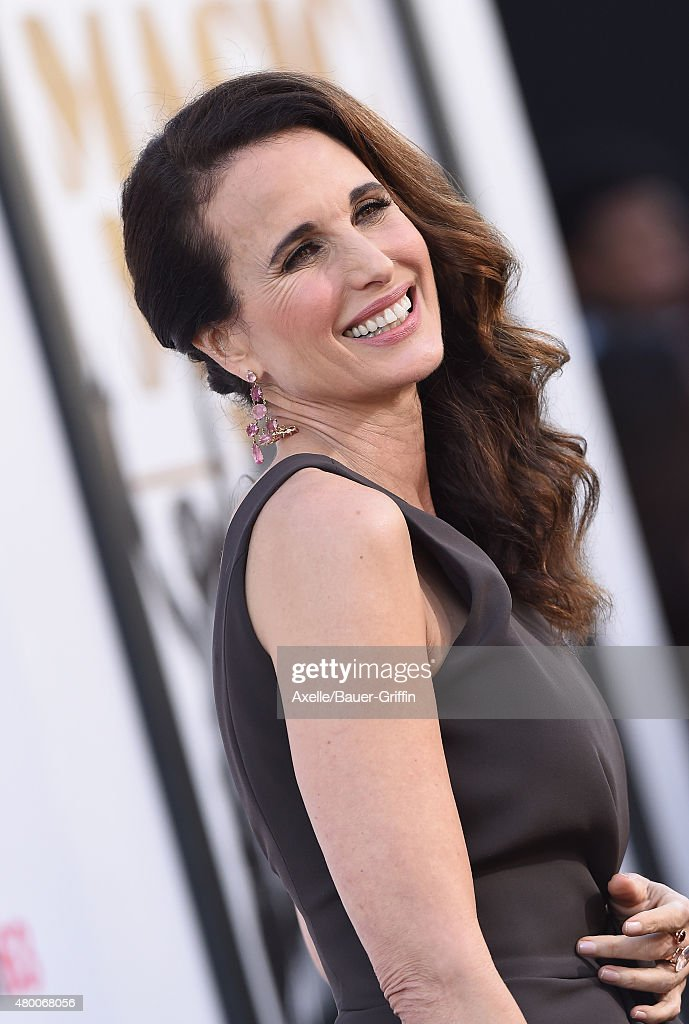 Actress Andie MacDowell arrives at the Los Angeles World Premiere of Warner Bros Pictures' 'Magic Mike XXL' at TCL Chinese Theatre IMAX on June 25...