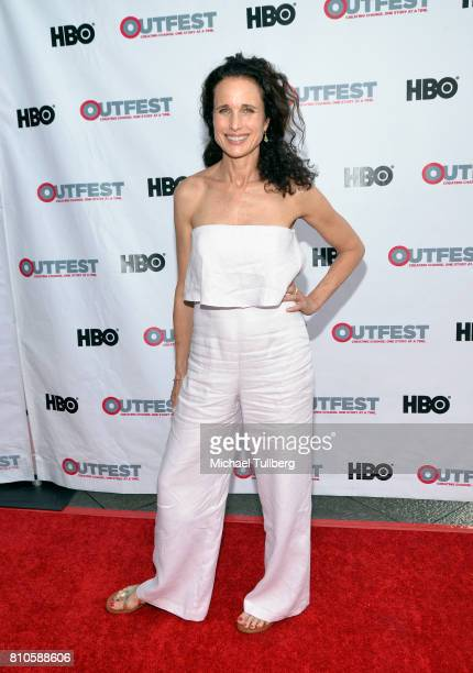 Actress Andie MacDowell attends a screening of 'KEVYN AUCOIN Beauty and the Beast in Me' at 2017 Outfest Los Angeles LGBT Film Festival at the...