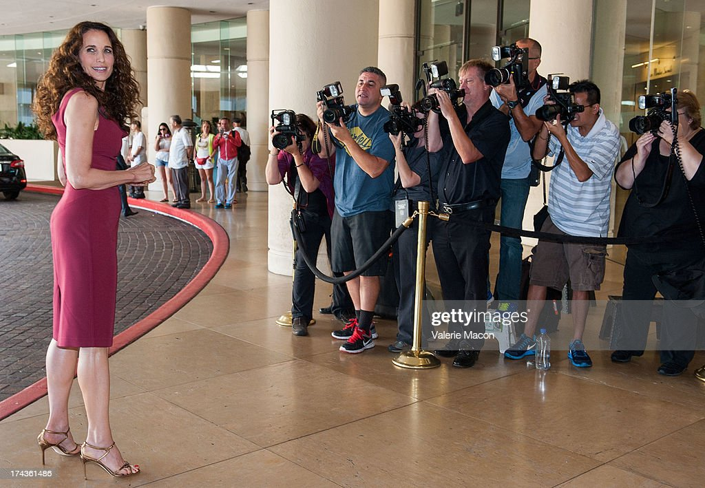 Actress Andie MacDowell attends Hallmark Channel and Hallmark Movie Channel's '2013 Summer TCA' Press Gala at The Beverly Hilton Hotel on July 24, 2013 in Beverly Hills, California.