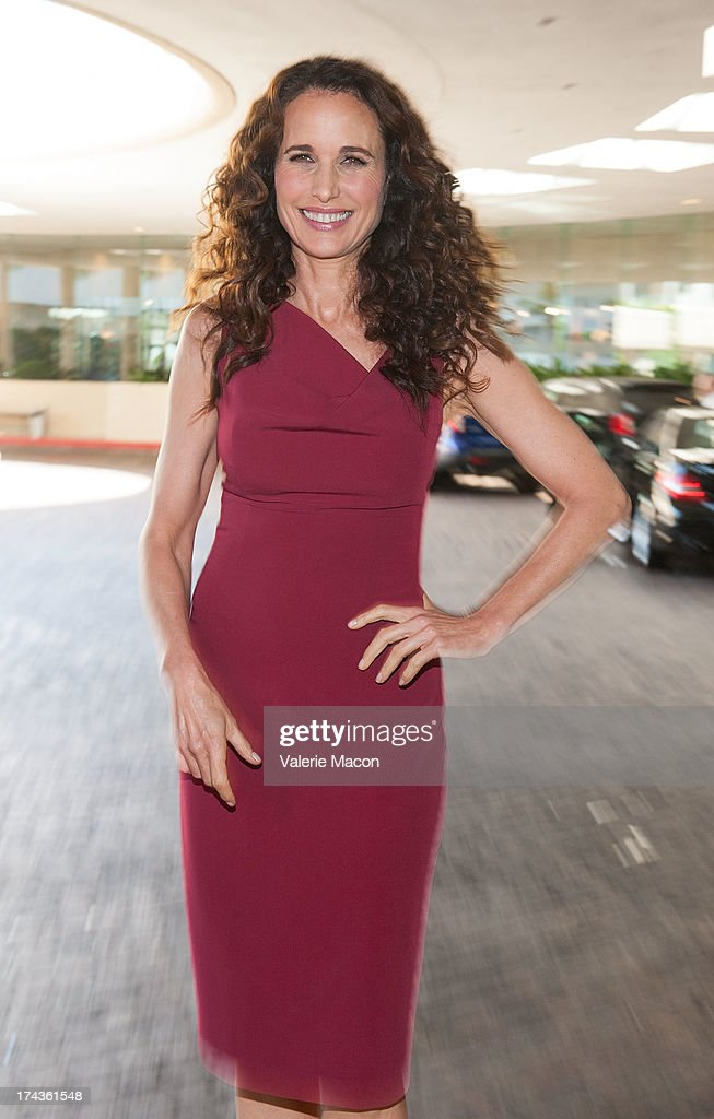 Actress <a gi-track='captionPersonalityLinkClicked' href=/galleries/search?phrase=Andie+MacDowell&family=editorial&specificpeople=204572 ng-click='$event.stopPropagation()'>Andie MacDowell</a> attends Hallmark Channel and Hallmark Movie Channel's '2013 Summer TCA' Press Gala at The Beverly Hilton Hotel on July 24, 2013 in Beverly Hills, California.