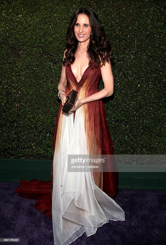 Actress Andie MacDowell attends ROCA PATRON TEQUILA at the 23rd Annual Elton John AIDS Foundation Academy Awards Viewing Party on February 22 2015 in...