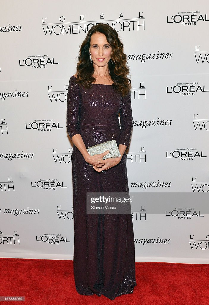 Actress Andie MacDowell attends Seventh Annual Women of Worth Awards at Hearst Tower on December 6, 2012 in New York City.