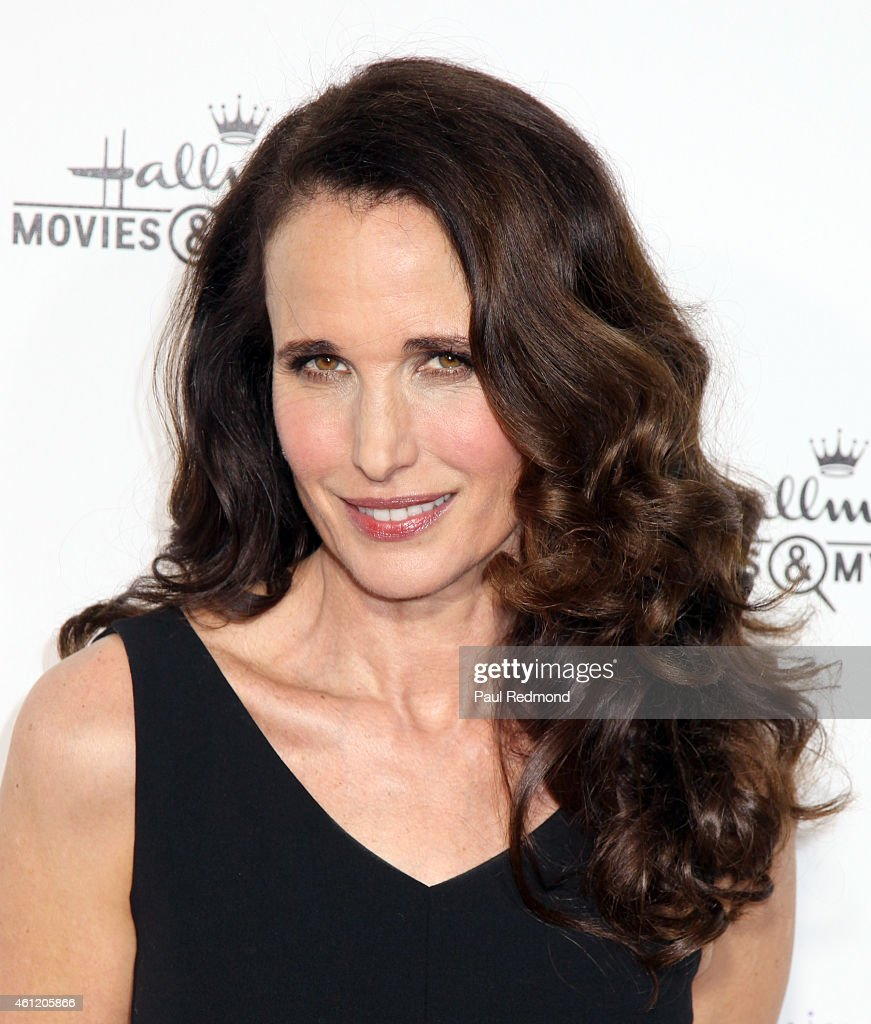 Actress Andie MacDowell attends the 2015 Television Critics Association Press Tour Hallmark Channel and Hallmark Movies Mysteries at Tournament House...
