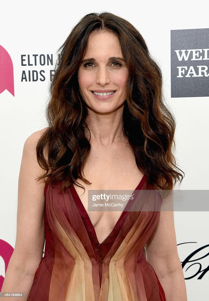 Actress Andie MacDowell attends the 23rd Annual Elton John AIDS Foundation Academy Awards Viewing Party on February 22 2015 in Los Angeles California