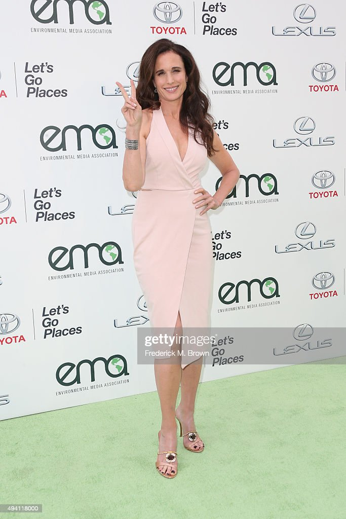 Actress Andie MacDowell attends the 25th annual EMA Awards presented by Toyota and Lexus and hosted by the Environmental Media Association at Warner Bros. Studios on October 24, 2015 in Burbank, California.