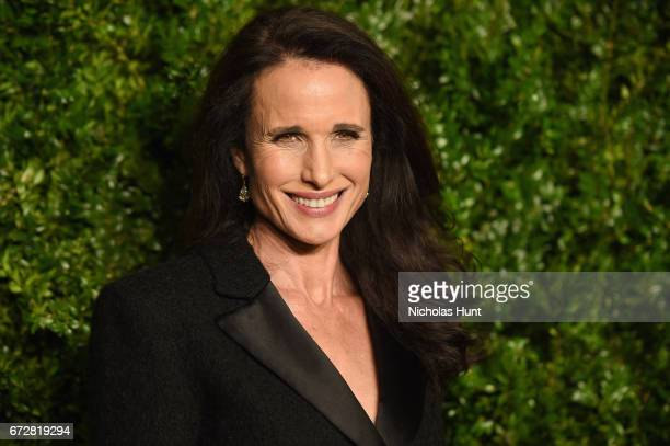 Actress Andie MacDowell attends the CHANEL Tribeca Film Festival Artists Dinner at Balthazar on April 24 2017 in New York City