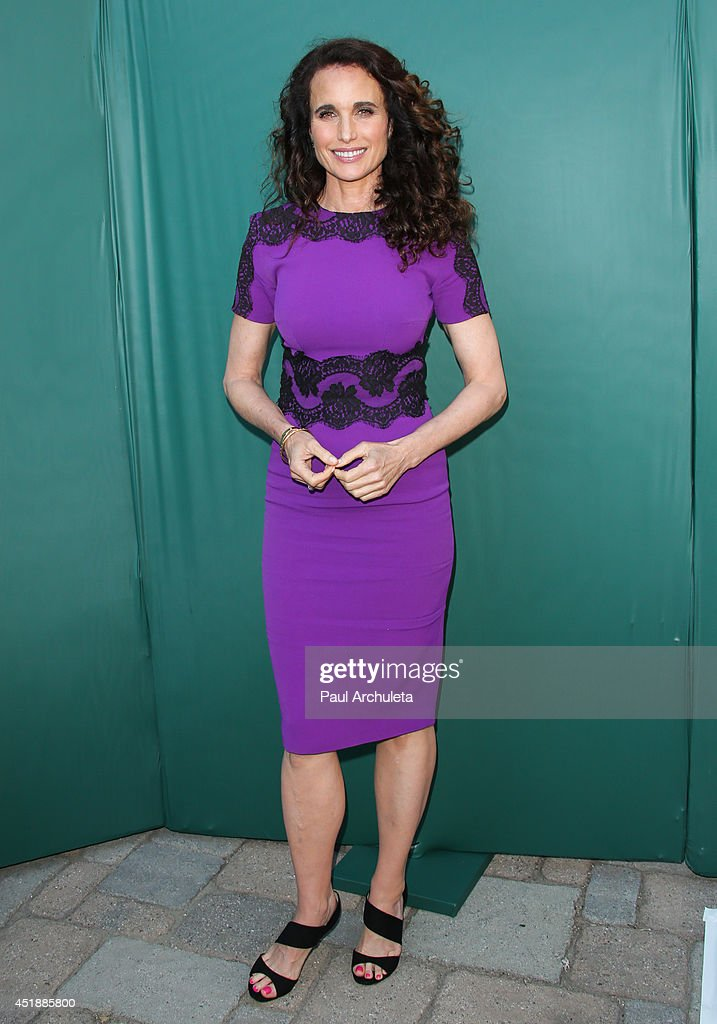 Actress Andie MacDowell attends the Hallmark Channel and Hallmark Movie Channel's 2013 Summer TCA Party on July 8 2014 in Beverly Hills California