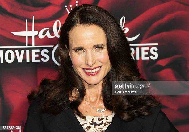 Actress Andie MacDowell attends the Hallmark Channel and Hallmark Movies and Mysteries Winter 2017 TCA Press Tour at The Tournament House on January...