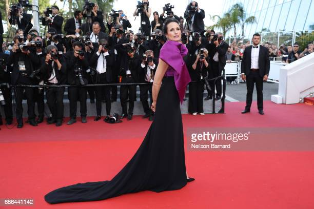 Actress Andie MacDowell attends 'The Meyerowitz Stories' screening during the 70th annual Cannes Film Festival at Palais des Festivals on May 21 2017...