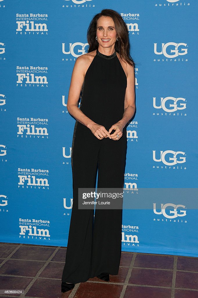 Actress Andie MacDowell attends the Modern Master Award Ceremony during the 30th Annual Santa Barbara International Film Festival at the Arlington...