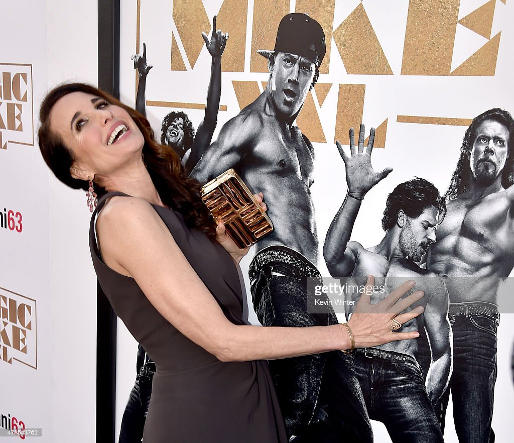 Actress Andie MacDowell attends the premiere of Warner Bros Pictures' 'Magic Mike XXL' at TCL Chinese Theatre IMAX on June 25 2015 in Hollywood...