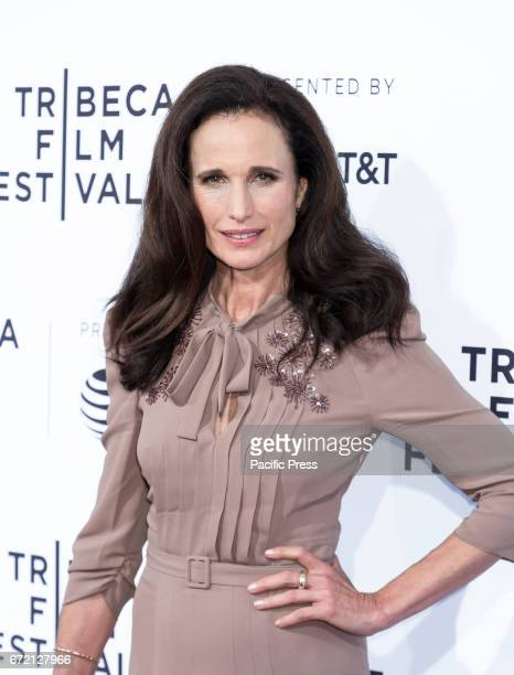 Actress Andie MacDowell attends US Narrative Competition Love After Love Premiere during the 2017 Tribeca Film Festival at SVA Theater Manhattan