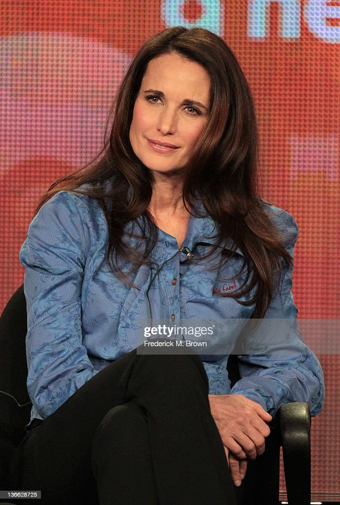 Actress Andie MacDowell speaks onstage during the 'Jane By Design' panel during the Disney/ABC Television Group portion of the 2012 Winter TCA Tour at The Langham Huntington Hotel and Spa on January 9, 2012 in Pasadena, California.