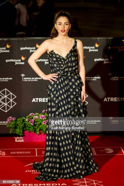Actress Andre Duro attends the 'Nieve Negra' premiere during the 20th Malaga Film Festival 2014 Day 2 at the Cervantes Theater on March 18 2017 in...