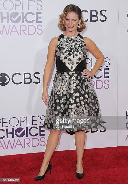 Actress Andrea Barber arrives at the People's Choice Awards 2017 at Microsoft Theater on January 18 2017 in Los Angeles California
