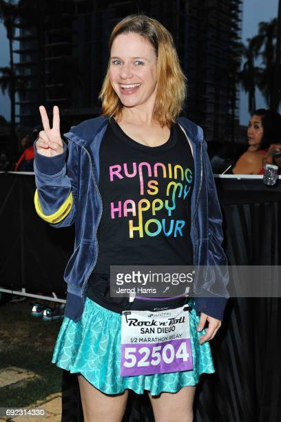 Actress Andrea Barber attends the Synchrony Financial Rock 'n' Roll San Diego Marathon on June 4 2017 in San Diego California