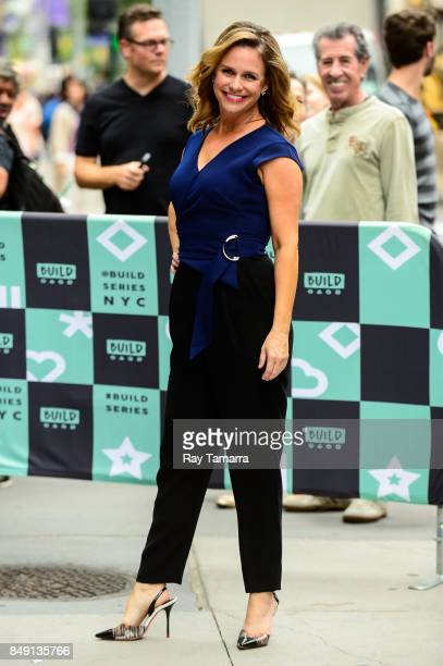 Actress Andrea Barber enters the 'AOL Build' taping at the AOL Studios on September 18 2017 in New York City