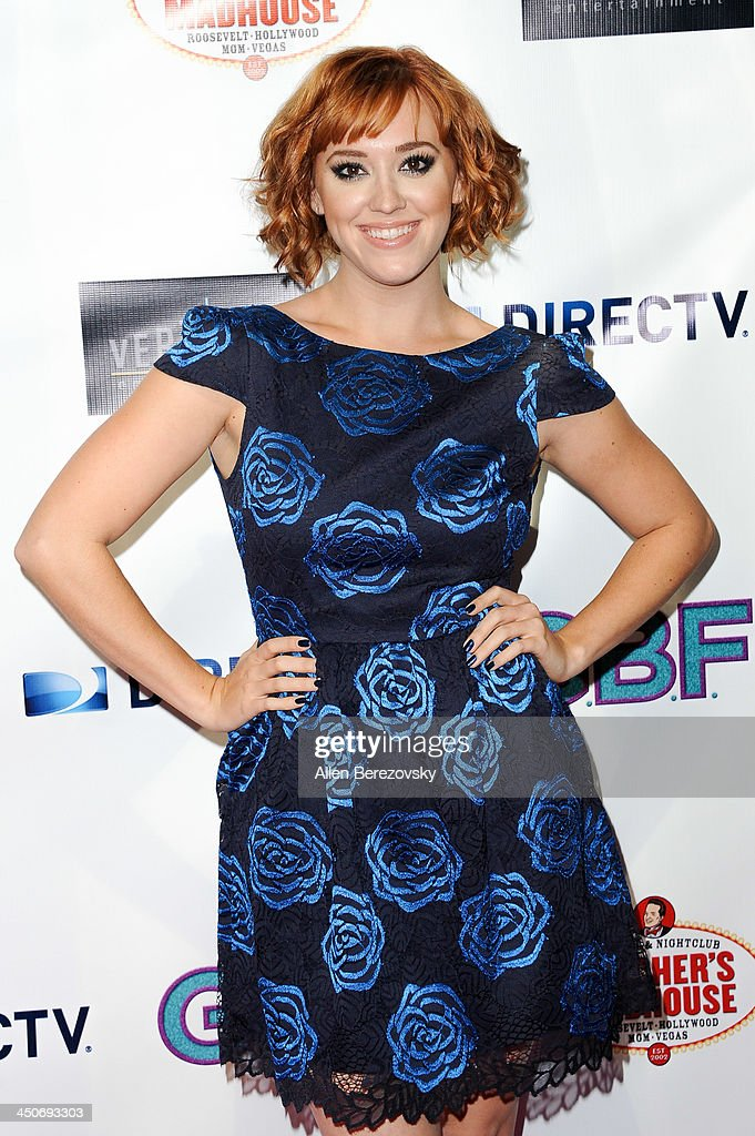 Actress Andrea Bowen arrives at the Los Angeles premiere of 'G.B.F.' at Chinese 6 Theater in Hollywood on November 19, 2013 in Hollywood, California.
