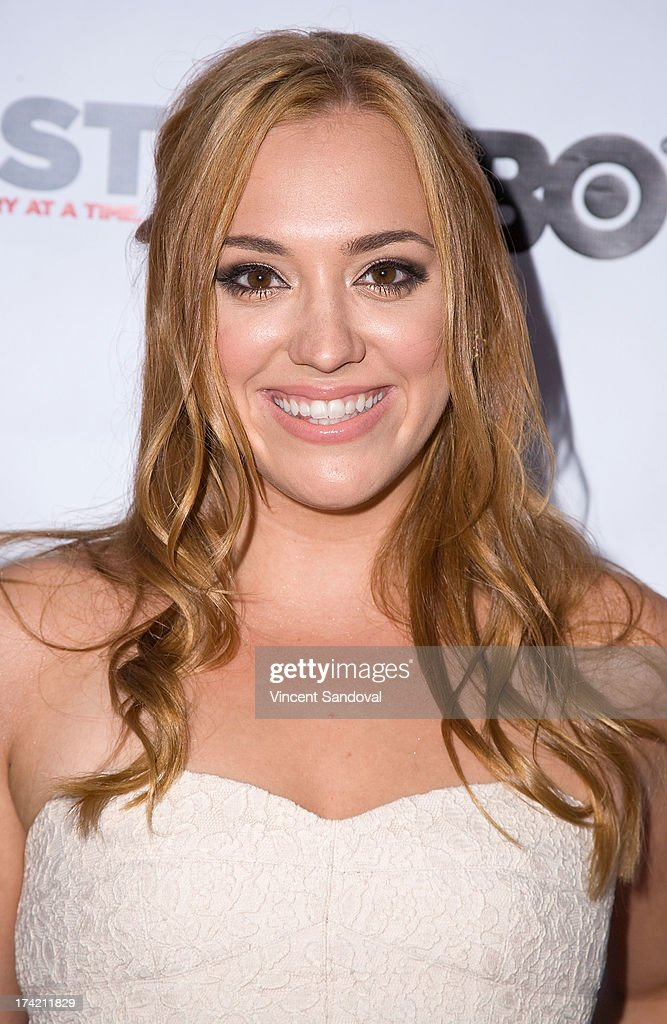 Actress <a gi-track='captionPersonalityLinkClicked' href=/galleries/search?phrase=Andrea+Bowen&family=editorial&specificpeople=212969 ng-click='$event.stopPropagation()'>Andrea Bowen</a> attends the 2013 Outfest Film Festival closing night gala of 'G.B.F.' at Ford Theatre on July 21, 2013 in Hollywood, California.