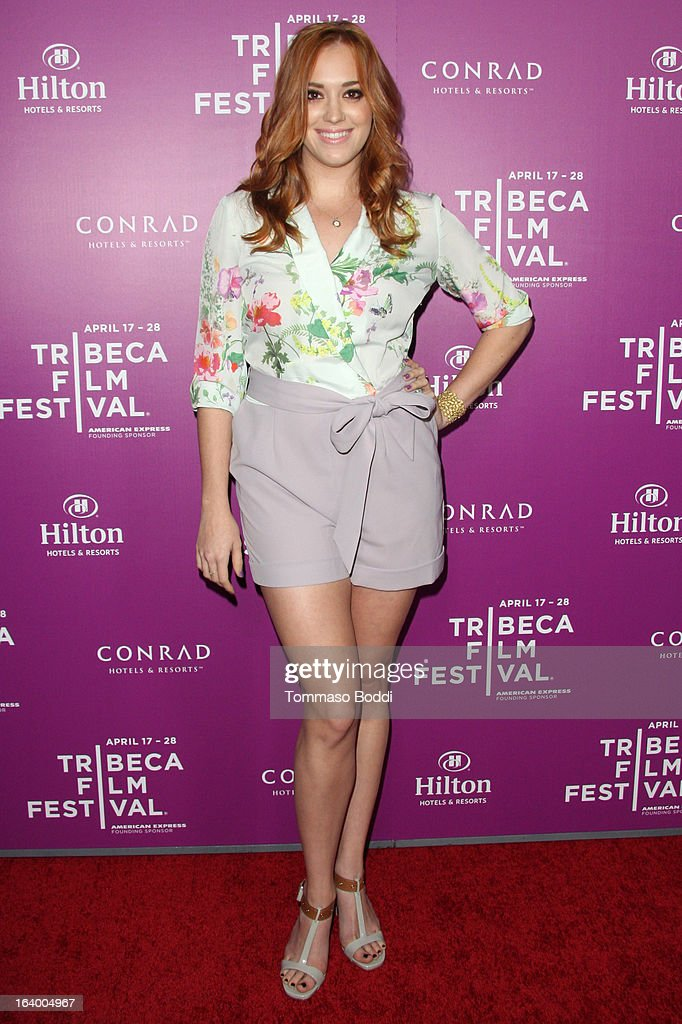 Actress Andrea Bowen attends the 5th annual Tribeca Film Festival 2013 LA reception held at The Beverly Hilton Hotel on March 18, 2013 in Beverly Hills, California.