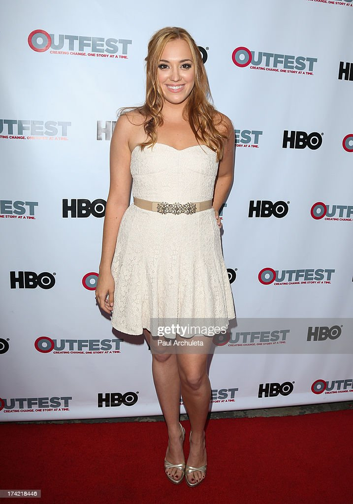 Actress Andrea Bowen attends the screening of 'G.B.F.' at the 2013 Outfest film festival closing night gala at the Ford Theatre on July 21, 2013 in Hollywood, California.