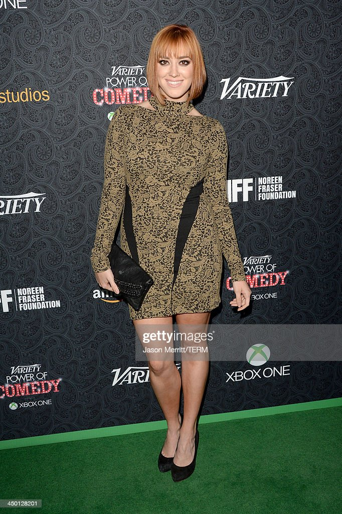 Actress <a gi-track='captionPersonalityLinkClicked' href=/galleries/search?phrase=Andrea+Bowen&family=editorial&specificpeople=212969 ng-click='$event.stopPropagation()'>Andrea Bowen</a> attends Variety's 4th Annual Power of Comedy presented by Xbox One benefiting the Noreen Fraser Foundation at Avalon on November 16, 2013 in Hollywood, California.