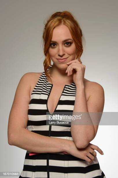 Actress Andrea Bowen of the film 'GBF' attends the Tribeca Film Festival 2013 portrait studio on April 19 2013 in New York City