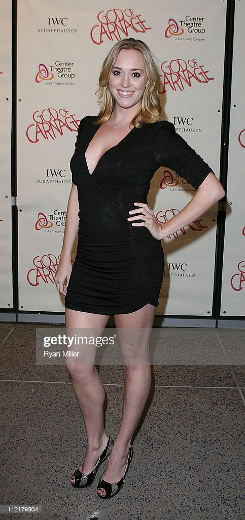 Actress Andrea Bowen poses during the arrivals for the opening night performance of 'God of Carnage' at Center Theatre Group's Ahmanson Theatre on April 13, 2011 in Los Angeles, California.