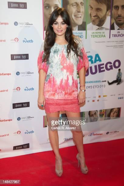 Actress Andrea Dueso attends 'En Fuera De Juego' premiere at Callao cinema on May 29 2012 in Madrid Spain