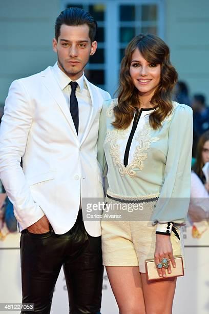 Actress Andrea Duro and Joel Bosqued attend the 'La Vida Inesperada' premiere during the 17th Malaga Film Festival 2014 Day 8 at the Cervantes...