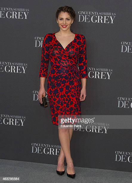 Actress Andrea Duro attends '50 Shades of Grey' premiere at Callao City Lights cinema on February 12 2015 in Madrid Spain