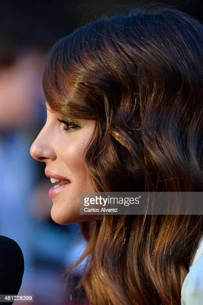 Actress Andrea Duro attends the 'La Vida Inesperada' premiere during the 17th Malaga Film Festival 2014 Day 8 at the Cervantes Theater on March 28...