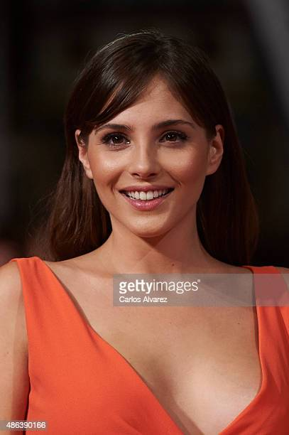 Actress Andrea Duro attends the 'Olmos Y Robles' premiere during the 7th FesTVal Television Festival 2015 at the Principal Theater on September 3...