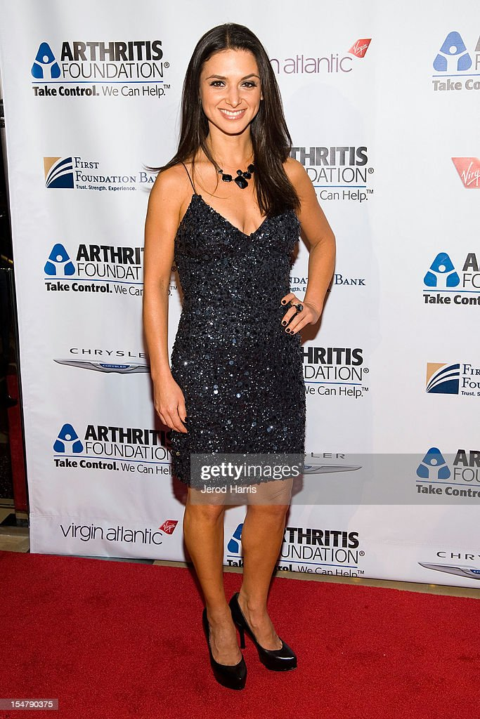 Actress Andrea Gabriel arrives at the Arthritis Foundation's annual gala at The Beverly Hilton Hotel on October 25, 2012 in Beverly Hills, California.