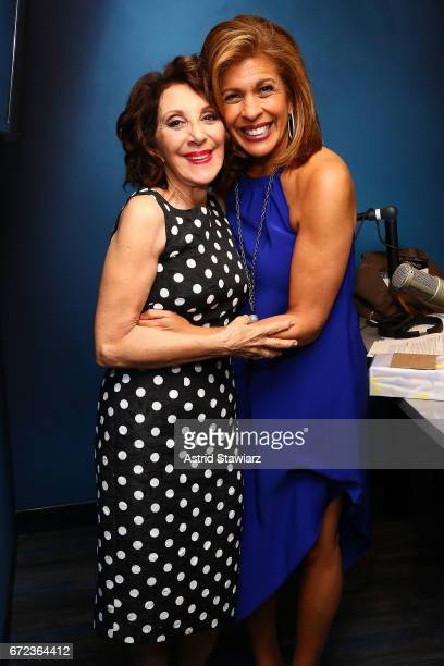 Actress Andrea Martin poses with SiriusXM host/TV personality Hoda Kotb during 'The Hoda Show' live on SiriusXM's TODAY Show Radio at the SiriusXM...