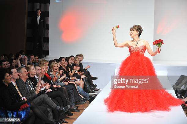 Actress Andrea Martin walks the runway during the Heart Truth fashion show at The Carlu on March 24 2011 in Toronto Canada