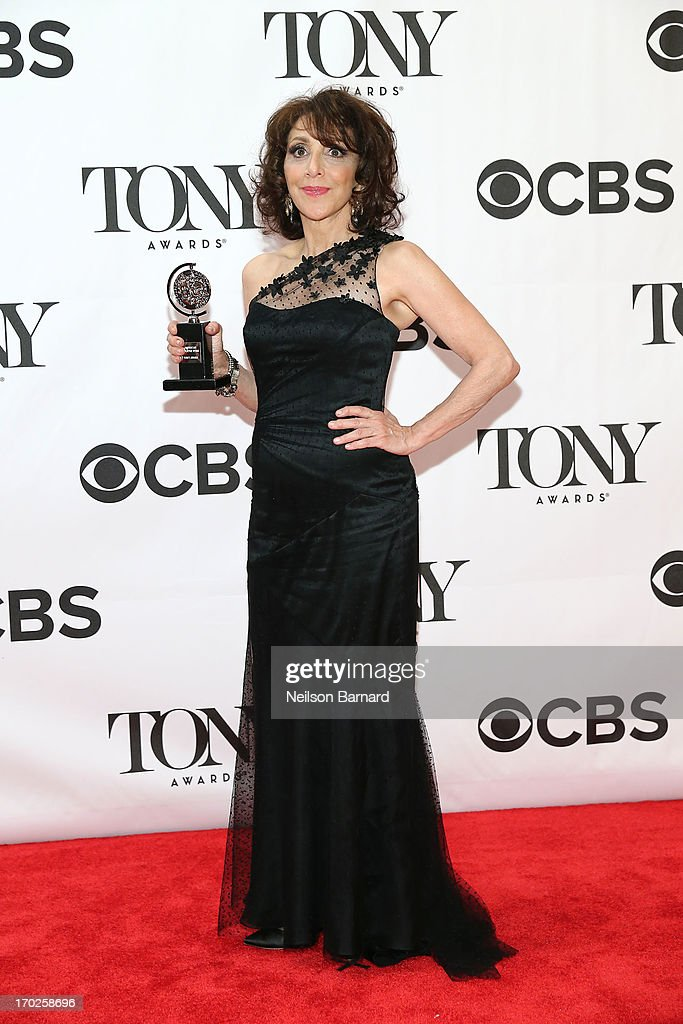 Actress Andrea Martin, winner of Best Performance by a Featured Actress in a Musical for her role in 'Pippin ' poses in The 67th Annual Tony Awards at Radio City Music Hall on June 9, 2013 in New York City.