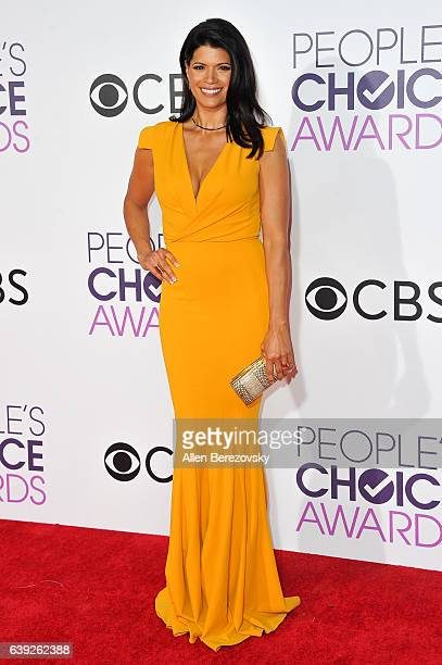 Actress Andrea Navedo arrives at People's Choice Awards 2017 at Microsoft Theater on January 18 2017 in Los Angeles California