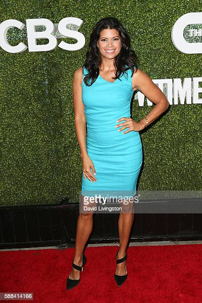 Actress Andrea Navedo arrives at the CBS CW Showtime Summer TCA Party at the Pacific Design Center on August 10 2016 in West Hollywood California