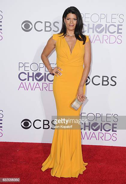 Actress Andrea Navedo arrives at the People's Choice Awards 2017 at Microsoft Theater on January 18 2017 in Los Angeles California