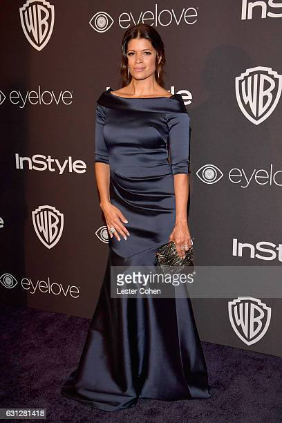Actress Andrea Navedo attends the 18th Annual PostGolden Globes Party hosted by Warner Bros Pictures and InStyle at The Beverly Hilton Hotel on...