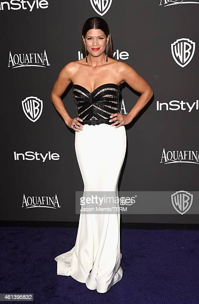 Actress Andrea Navedo attends the 2015 InStyle And Warner Bros 72nd Annual Golden Globe Awards PostParty at The Beverly Hilton Hotel on January 11...