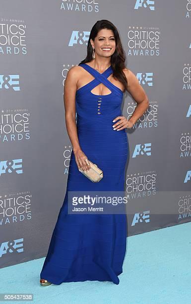 Actress Andrea Navedo attends the 21st Annual Critics' Choice Awards at Barker Hangar on January 17 2016 in Santa Monica California