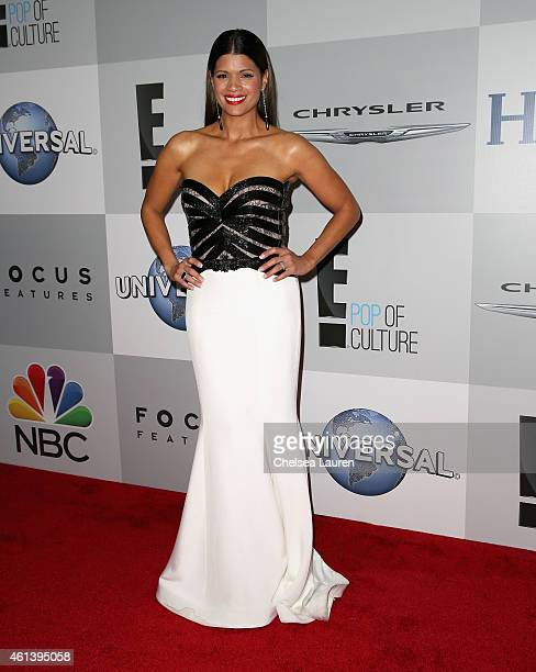 Actress Andrea Navedo attends the NBCUniversal 2015 Golden Globe Awards Party sponsored by Chrysler at The Beverly Hilton Hotel on January 11 2015 in...