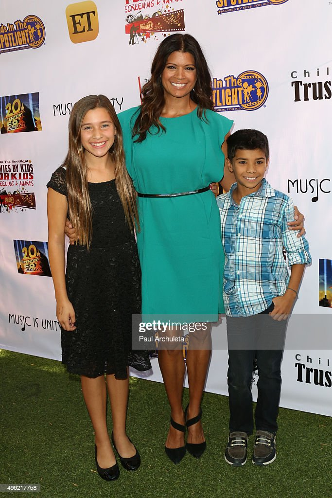 Actress Andrea Navedo (C) attends with her kids the Kids In The Spotlight's Movies By Kids, For Kids Film Awards at Fox Studios on November 7, 2015 in Los Angeles, California.