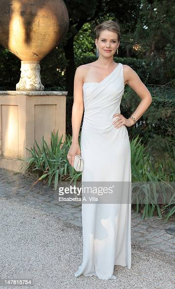 Actress Andrea Osvart attends 2012 Globo d'Oro Italian Golden Globes Award at Villa Massimo on July 3 2012 in Rome Italy