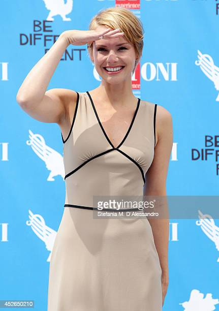Actress Andrea Osvart attends Giffoni Film Festival photocall on July 25 2014 in Giffoni Valle Piana Italy