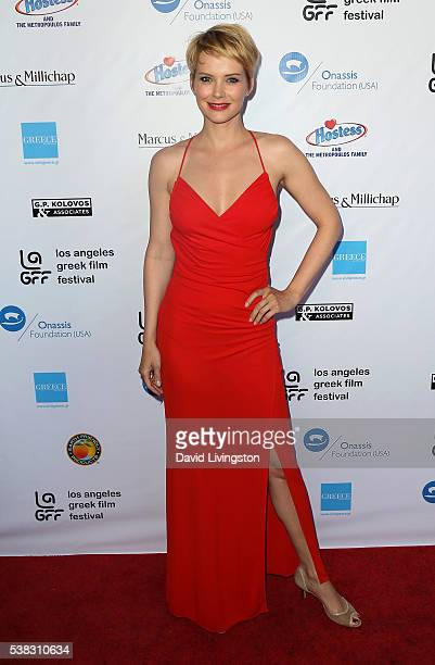 Actress Andrea Osvart attends the 2016 LA Greek Film Festival premiere of 'Worlds Apart' at the Egyptian Theatre on June 5 2016 in Hollywood...