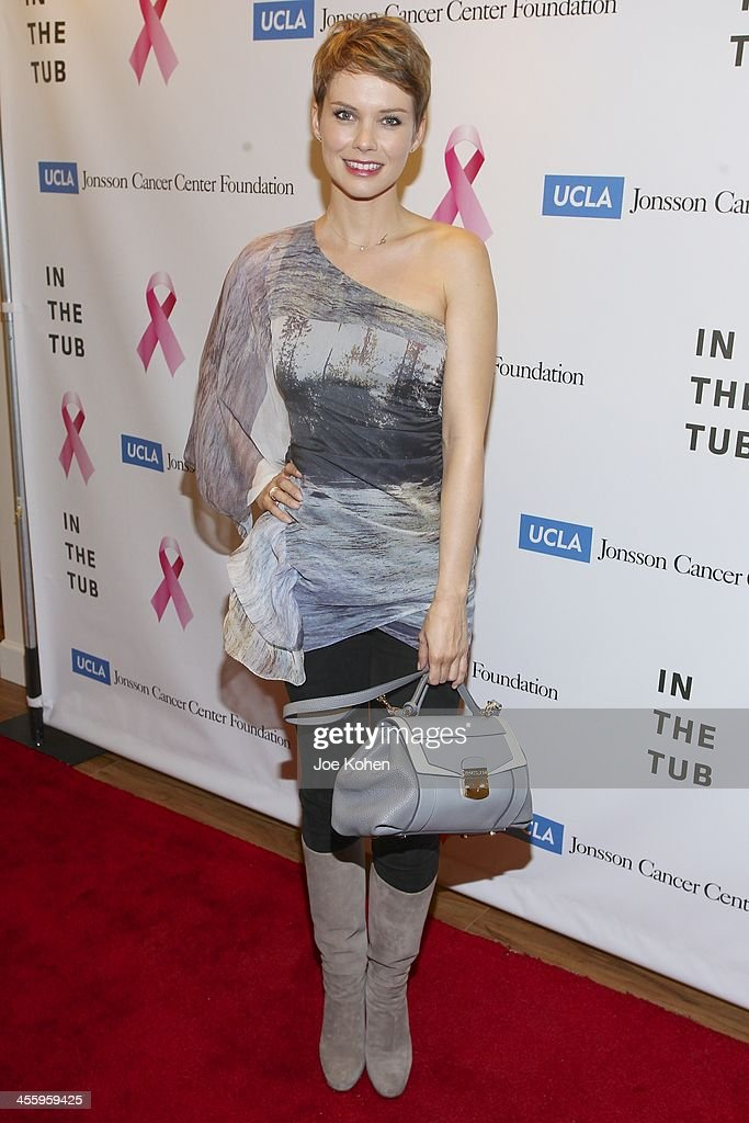 Actress Andrea Osvart attends TJ Scott's 'In The Tub' book launch party at Light in Art on December 12, 2013 in Los Angeles, California.