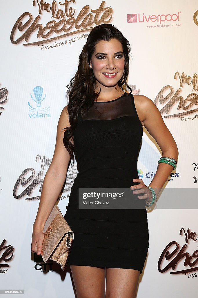 Actress Andrea Portugal attends the 'Me Late Chocolate' Mexico City premiere at Cinemex WTC on February 6, 2013 in Mexico City, Mexico.